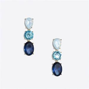 Triple Drop Crystal Statement Earrings